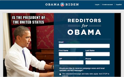 صفحه فرود اینستاگرام اوباما