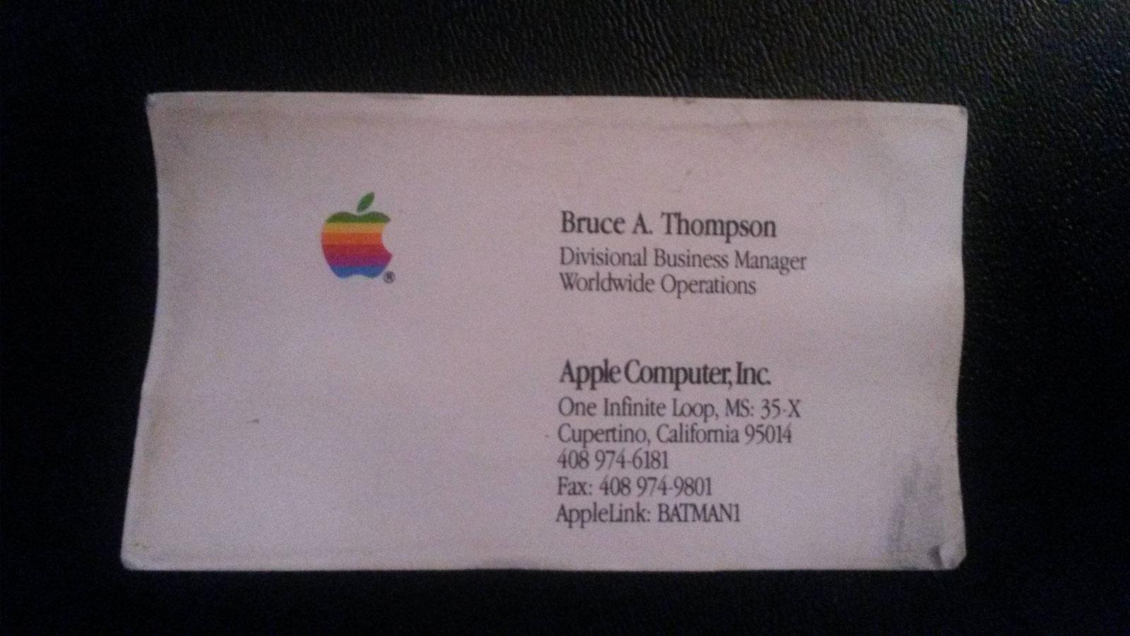 کارت ویزیت قدیمی اپل