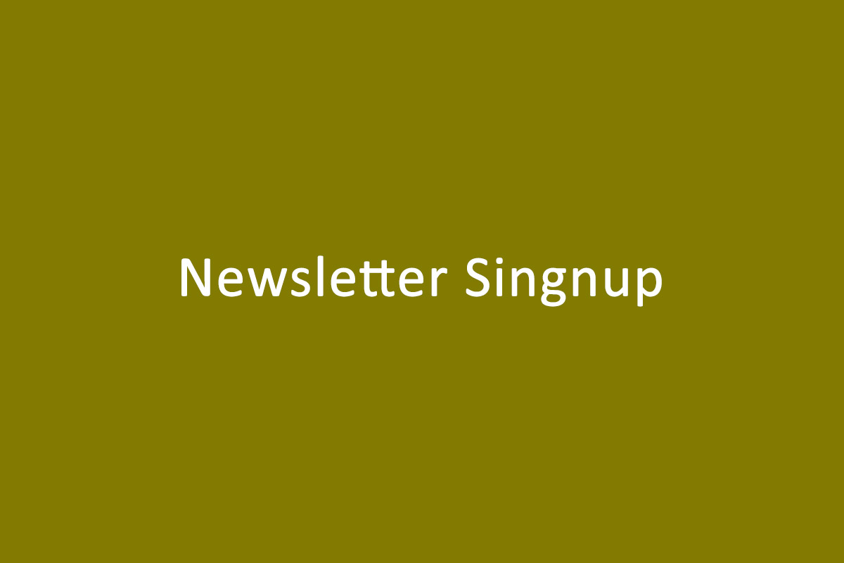 Newsletter Singnup